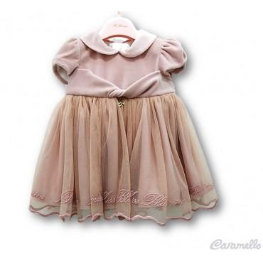 Vestito neonata con balza...