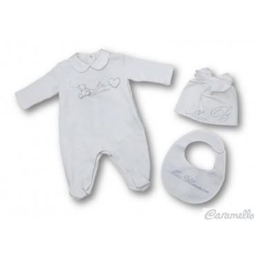 Set baby con logo e strass...