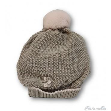 Cappello neonata con pompon...