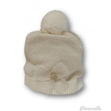 Cappello neonata con fiocco...