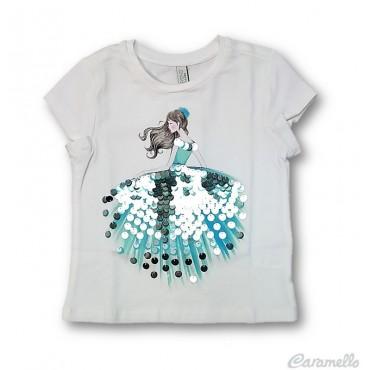 T-shirt bambina con stampa...