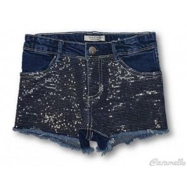 Jeans corto bambina con...