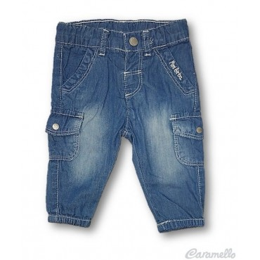Pantalone jeans con tasca...