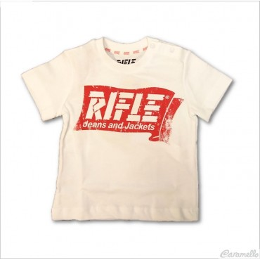 T-shirt con stampa logo RIFLE
