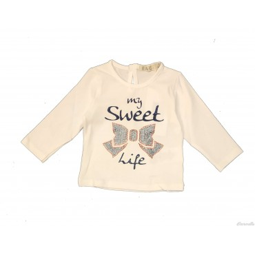 """Maglia con stampa """"My sweet..."""