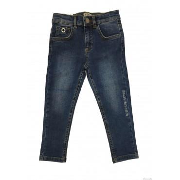 Jeans lungo con scritta EMC