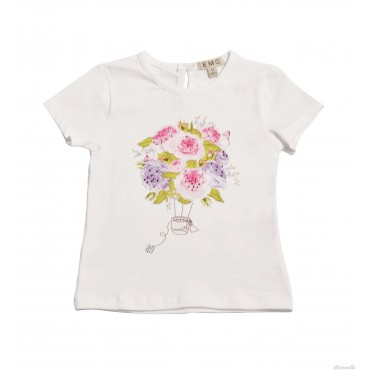 T-shirt jersey con stampa e...