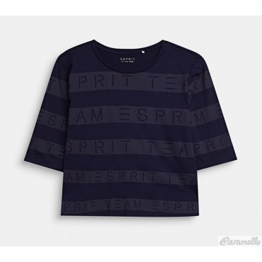 T-shirt corta con stampa a...