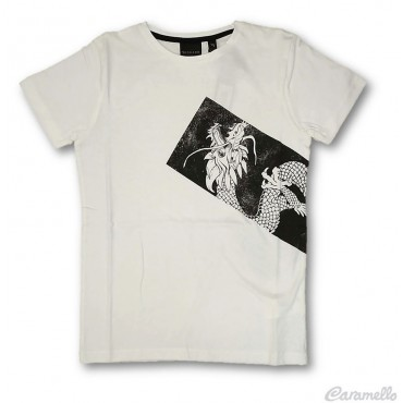 T-shirt con stampa Dragone...