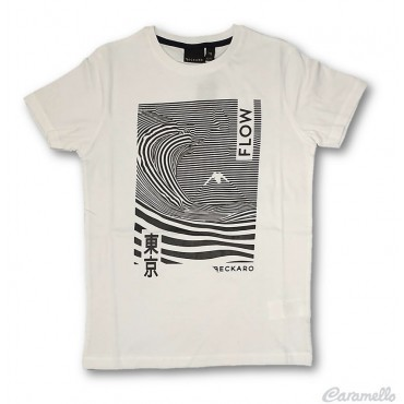 "T-shirt con stampa ""Flow""..."