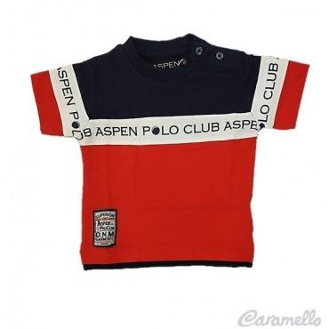 T-shirt tricolore logata...
