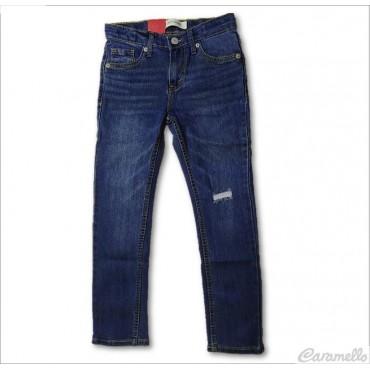 Jeans 5 tasche con strappo...