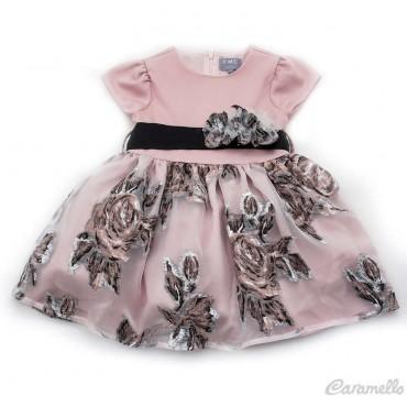 Vestito bambina con balza a...