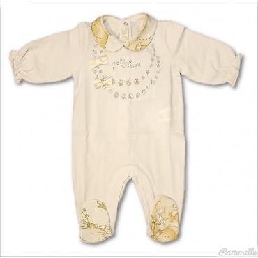 Tutina neonata con strass e...