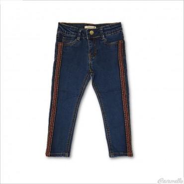 Jeans lungo con bande...