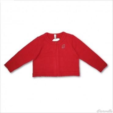 Cardigan tricot con strass...