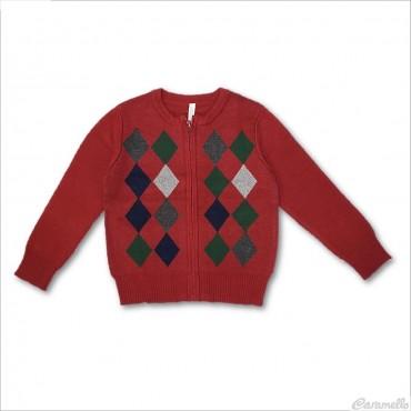 Cardigan tricot con zip...