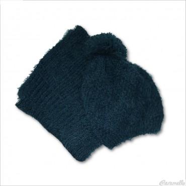 Set sciarpa e cappello con...
