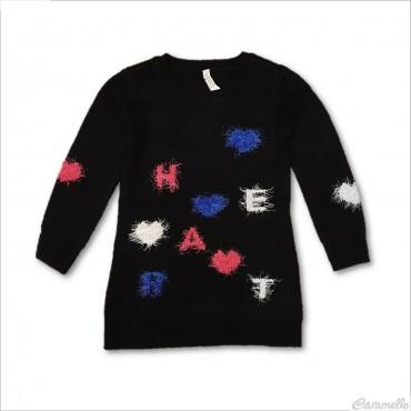Abito tricot con ricami...