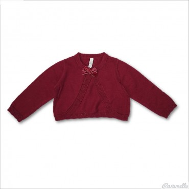 Cardigan tricot con fiocco...