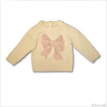 Maglia tricot con fiocco...