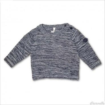 Maglia tricot con placca...