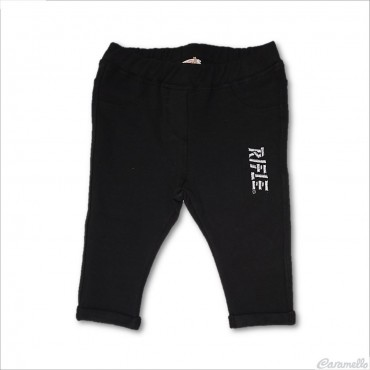 Pantalone felpato con logo...
