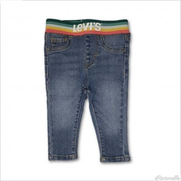 Jeans neonata con megalogo...