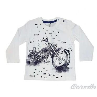 T-Shirt con stampa moto...