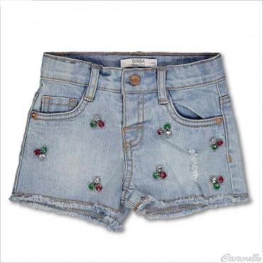 Shorts jeans con gioielli...