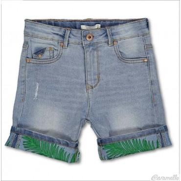Bermuda jeans in tessuto...