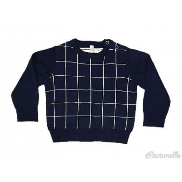 Maglia tricot quadretto...