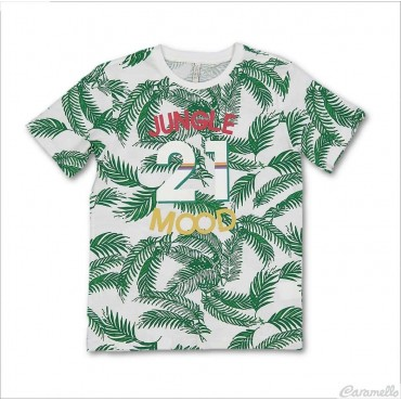 T-shirt con stampa jungla Birba-Trybeyond