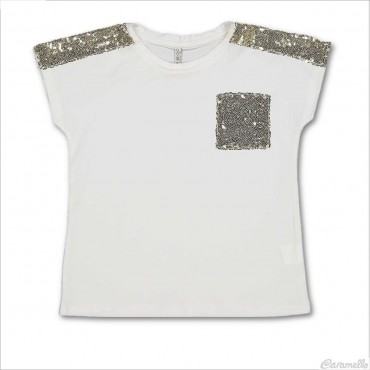 T-shirt con paillettes...