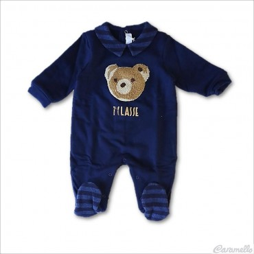 Tutina neonato blu navy con...