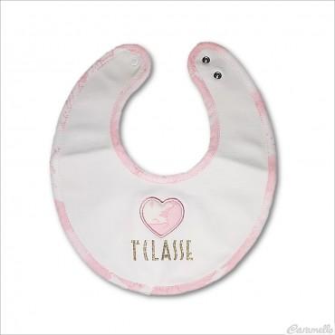 Bavaglino neonata con cuore...