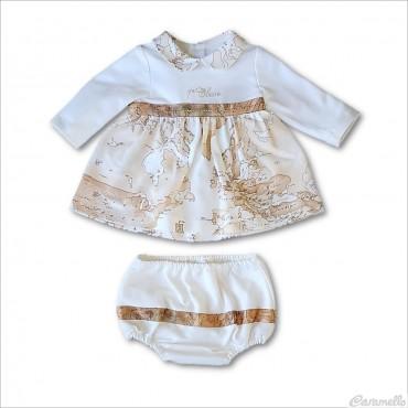 Vestito neonata con culotte...