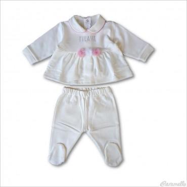 Completo neonata con pompon...