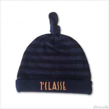Cappello neonato rigato blu...