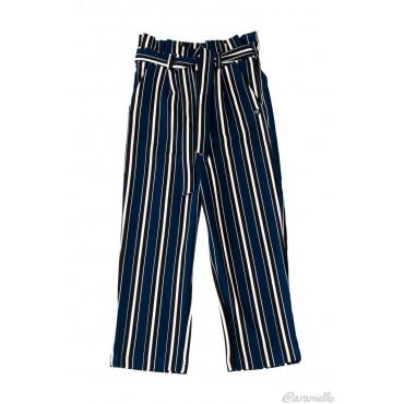 Pantalone ragazza rigato...