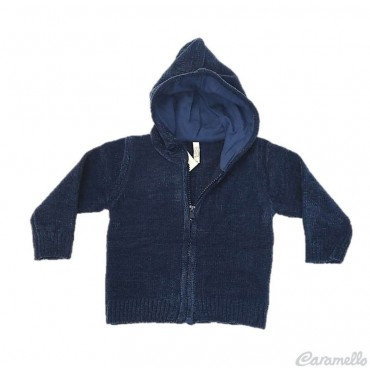 Cardigan tricot con cappuccio e zip BIRBA-TRYBEYOND