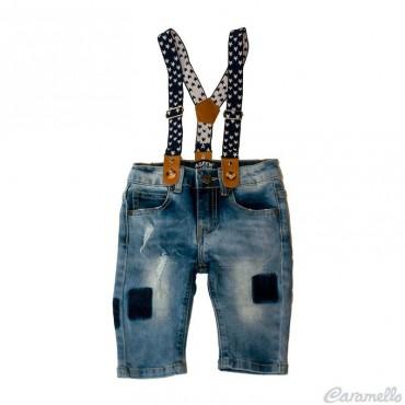 Jeans neonato con bretelle...