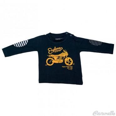 T-shirt neonato con toppe e...