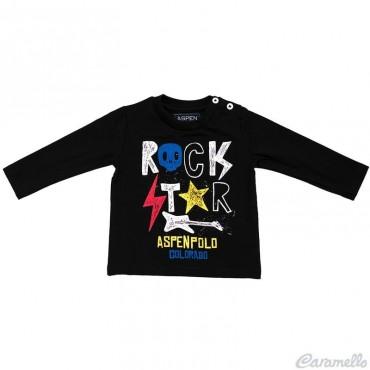 T-shirt neonato con stampa ASPEN POLO CLUB